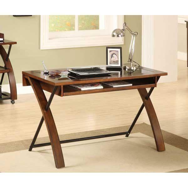 Zeta Computer Desk Ztcd Golden Oak Whalen Furniture Afw Com
