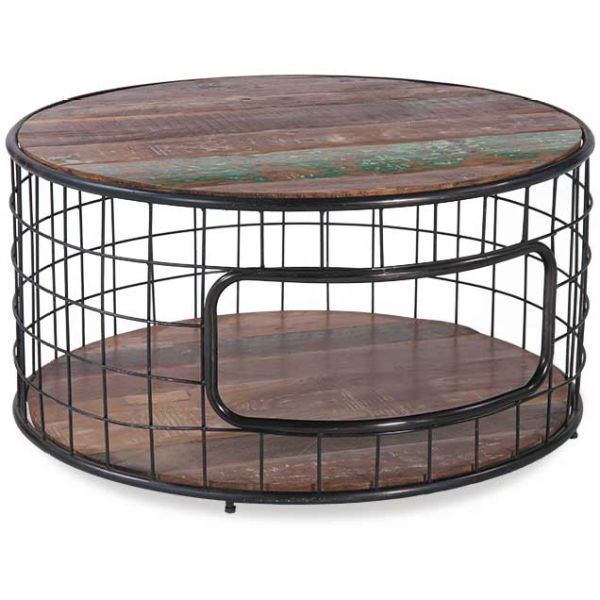 Picture of Vintage Round Baker's Style Coffee Table