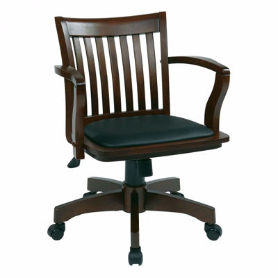 Picture of Espresso Wood Office Chair 108ES-3 *D