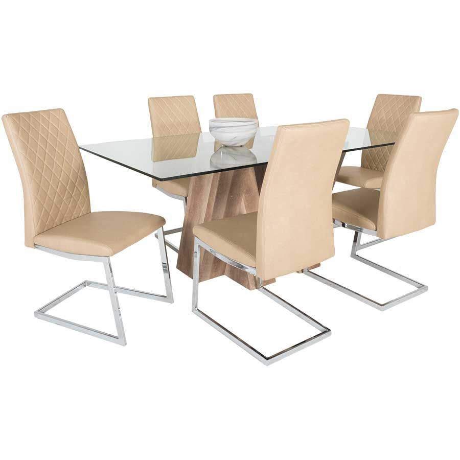 Picture of Glass Top Dining Table