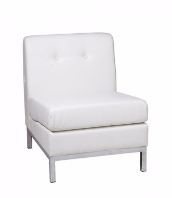 Picture of Wallstreet White Armless Chair *D