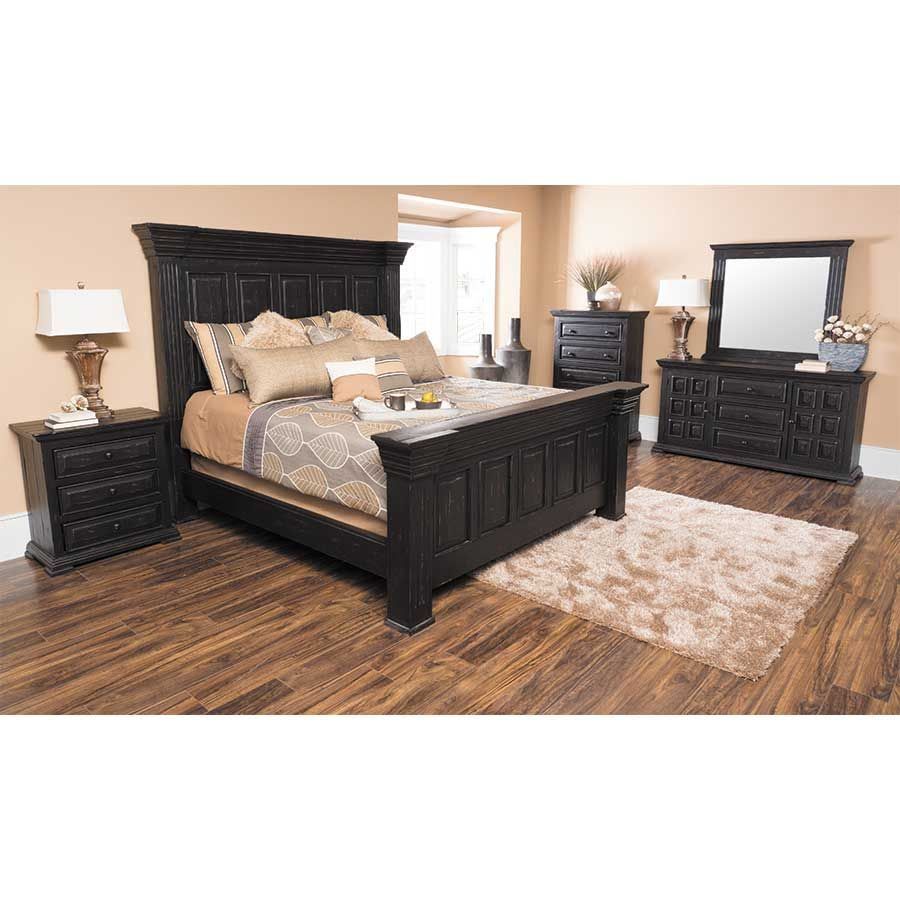 Picture of Black Isabella Queen Bed