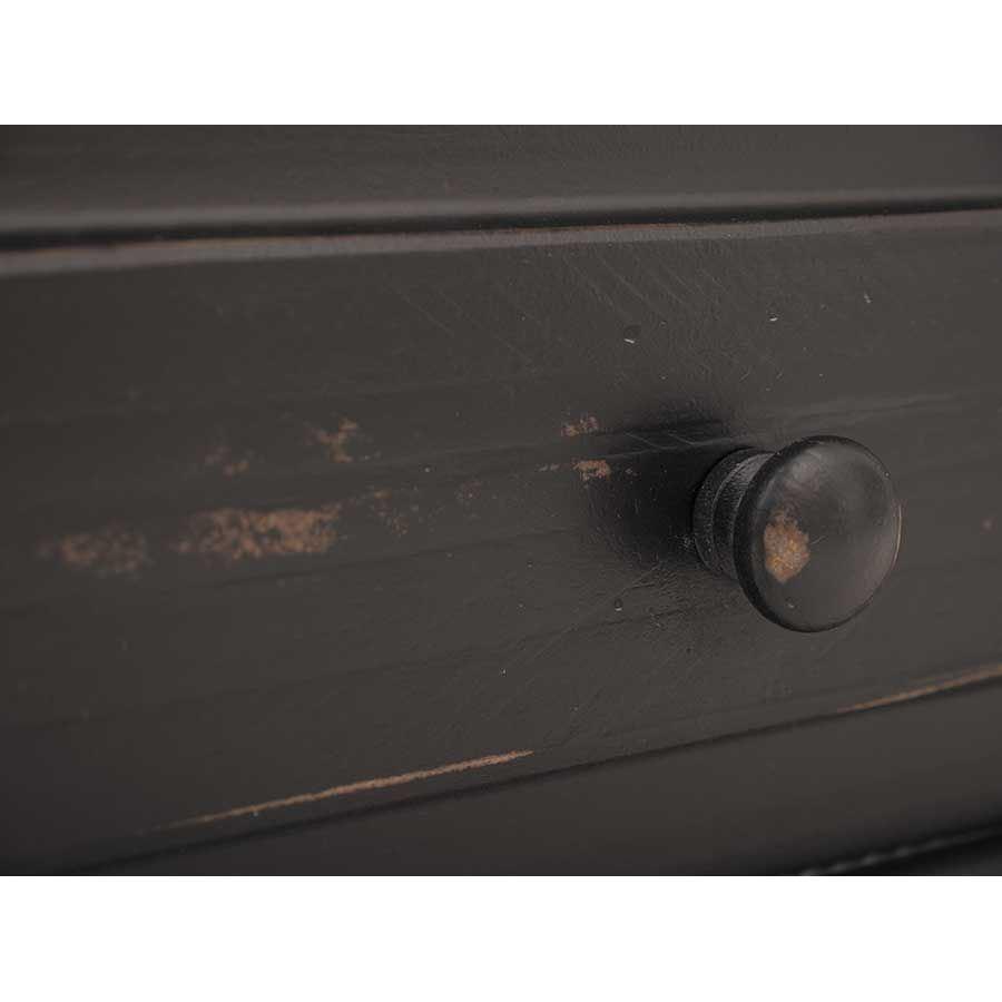 Picture of Black Isabella 6-Drawer Door Dresser