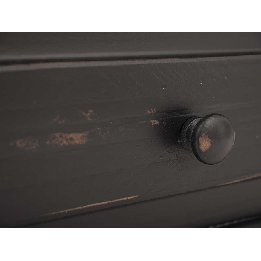 Picture of Black Isabella 3-Drawer Door Dresser