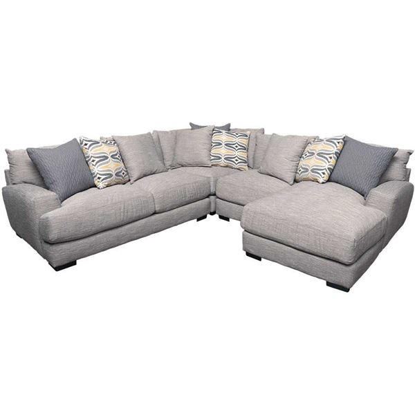 Barton 4PC Sectional with RAF Chaise