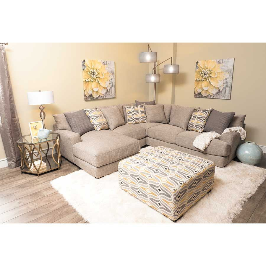 Picture of Barton 4PC Sectional with RAF Chaise