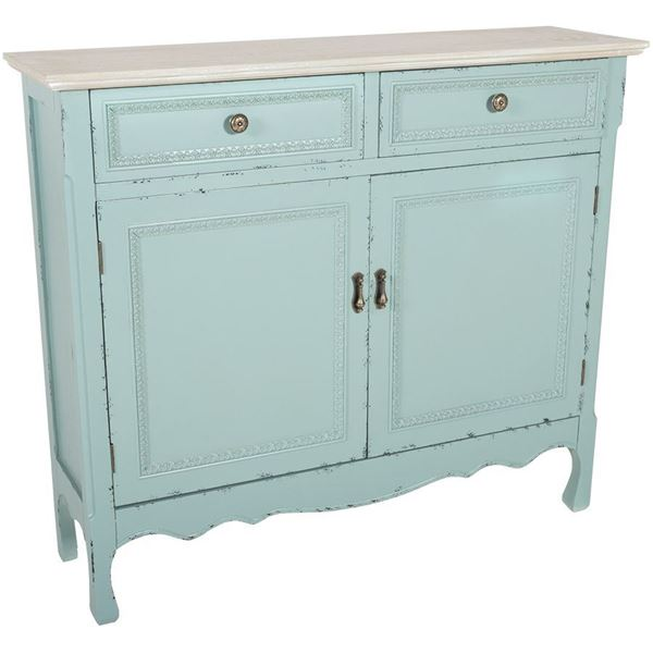 Picture of Powder Blue Accent Cabinet