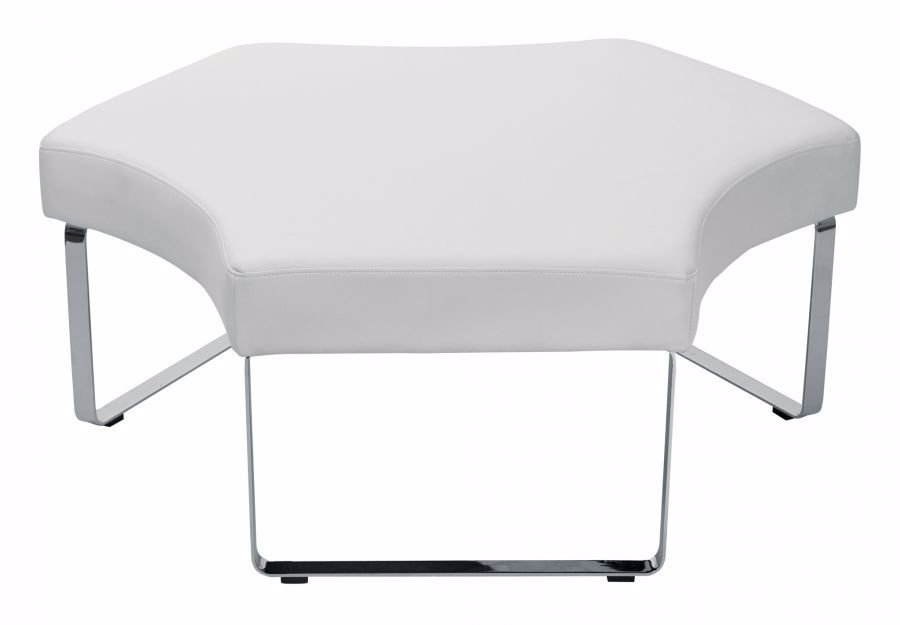 Fabulous White Fabric Lounge Bench D Mup51 R101 Osp Office Machost Co Dining Chair Design Ideas Machostcouk