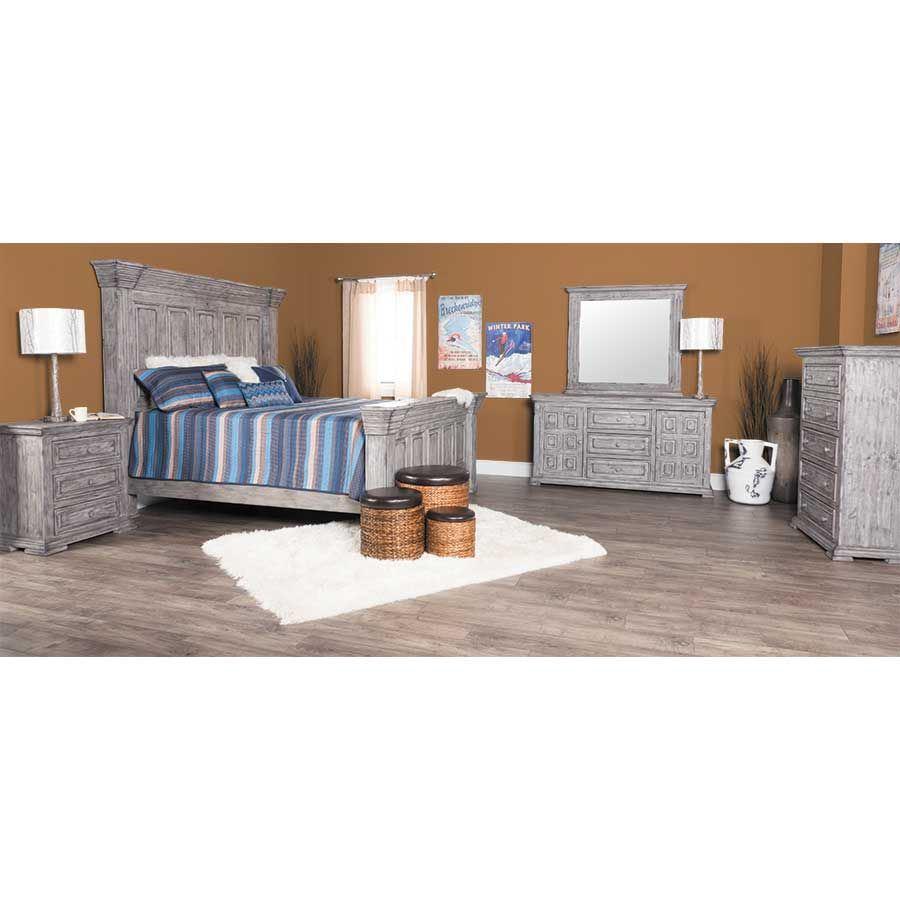 Picture of Grey Isabella 3-Drawer Door Dresser