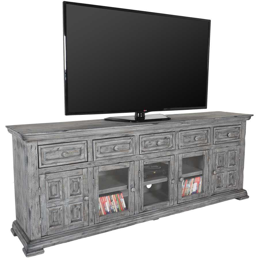 "Picture of Grey Isabella 82"" TV Console"