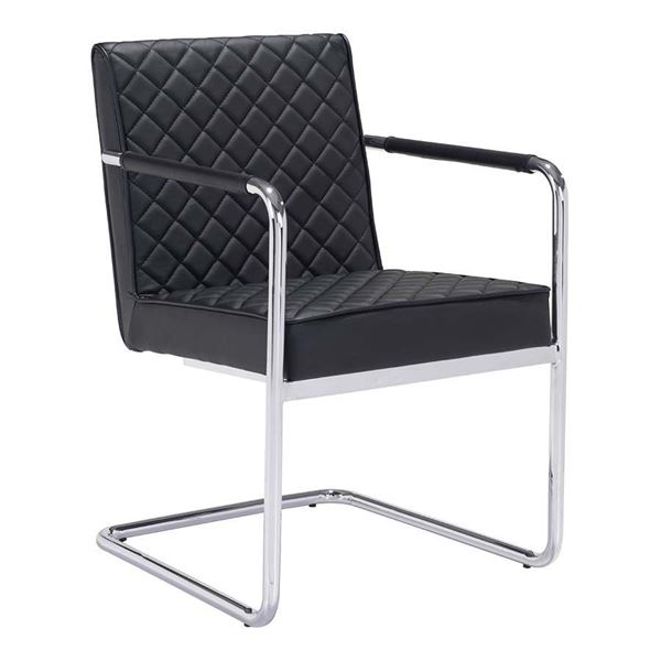 Picture of Quilt Dining Chair, Black - Set of 2 *D