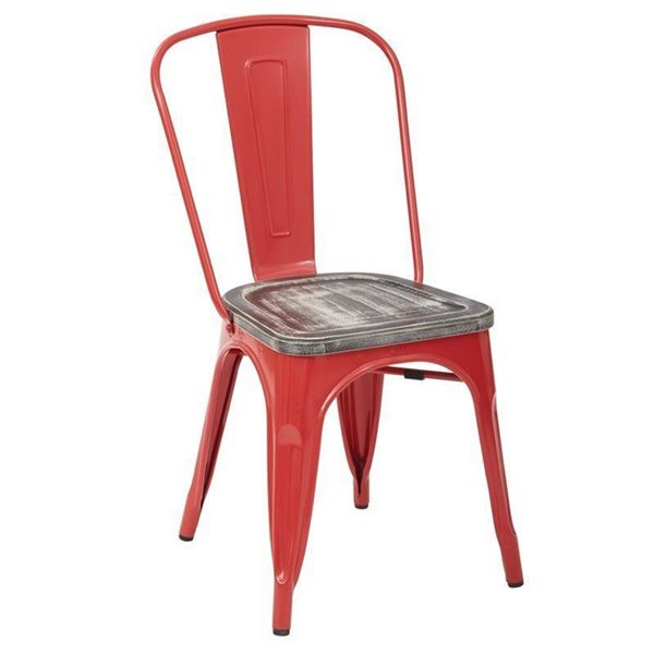 Picture of Bristow Red Metal Chair, 2-Pack *D