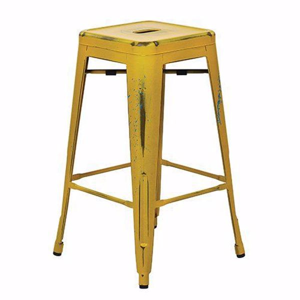 Picture of Bristow Ant Yellow Barstool 4 Pack *D