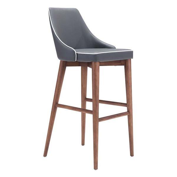 Picture of Moor Bar Chair, Dark Gray *D