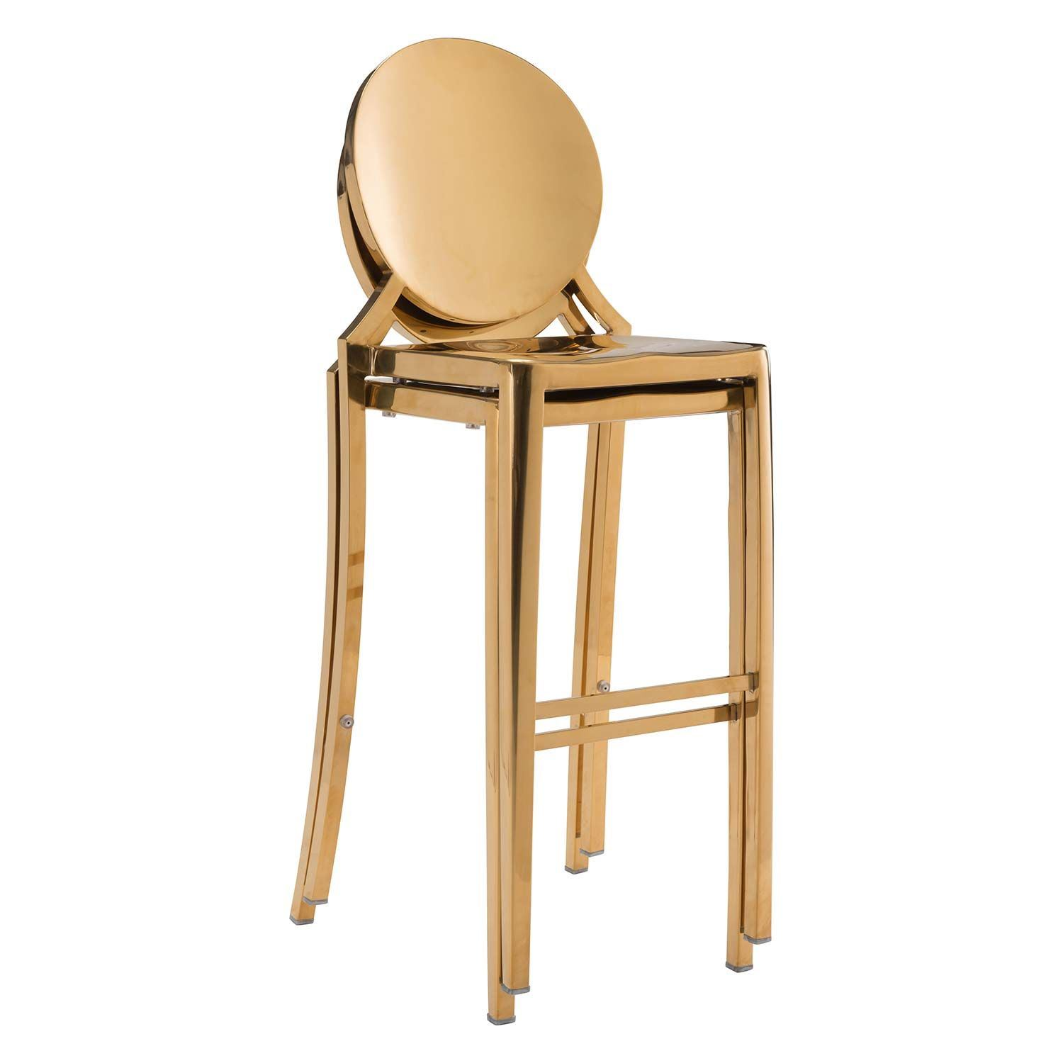 Picture of Eclispe Bar Chair, Gold,  Set of 2 *D