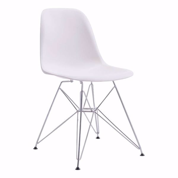 Picture of Zip Dining Chair, White *D