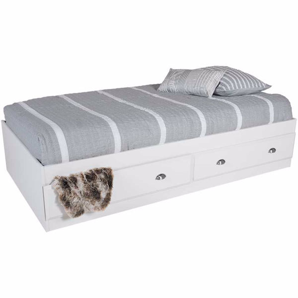 Picture of Shoal Creek White Twin Mate's Bed