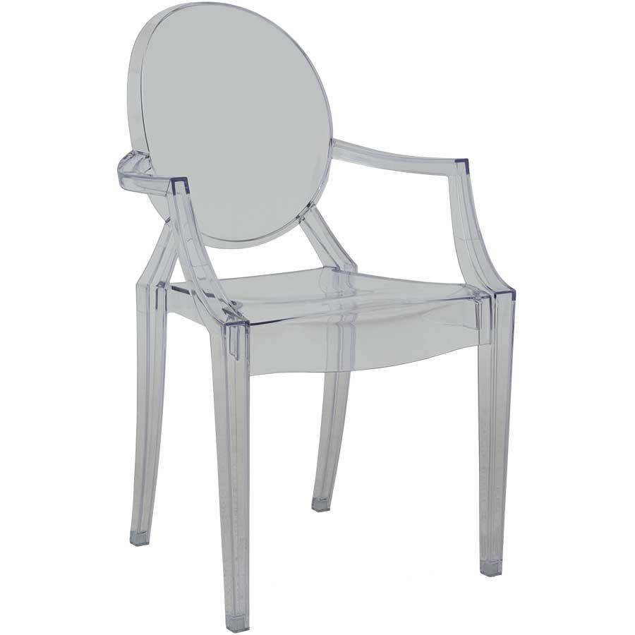 Lou Clear Ghost Chair 1C-801C | Modern Clear Chairs | AFW com