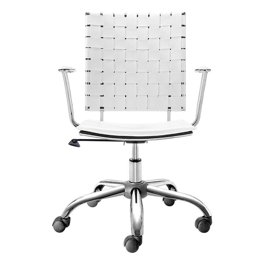 Picture of Criss Cross Office Chair White *D