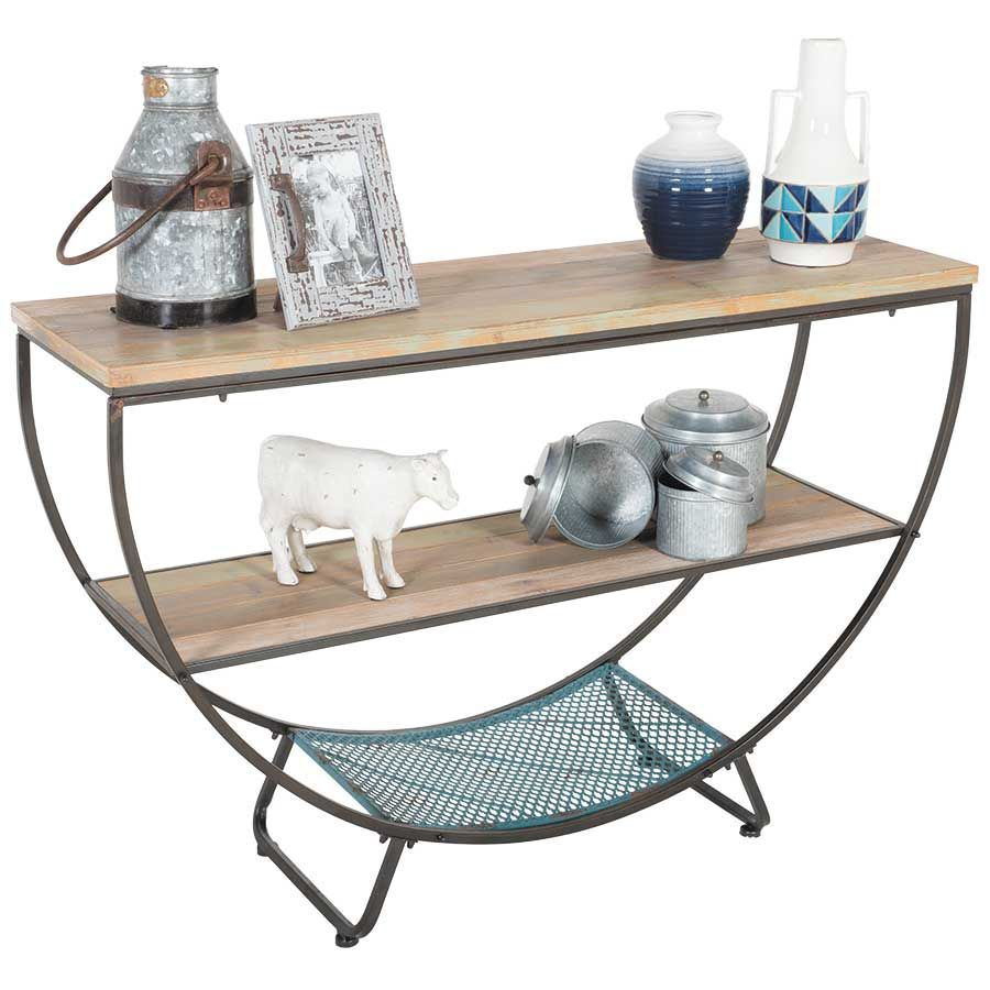 Picture of Wood and Metal Accent Table