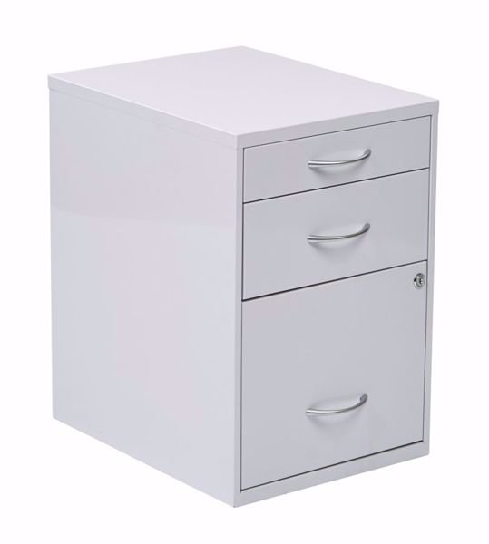 Picture of White Storage File Cabinet *D