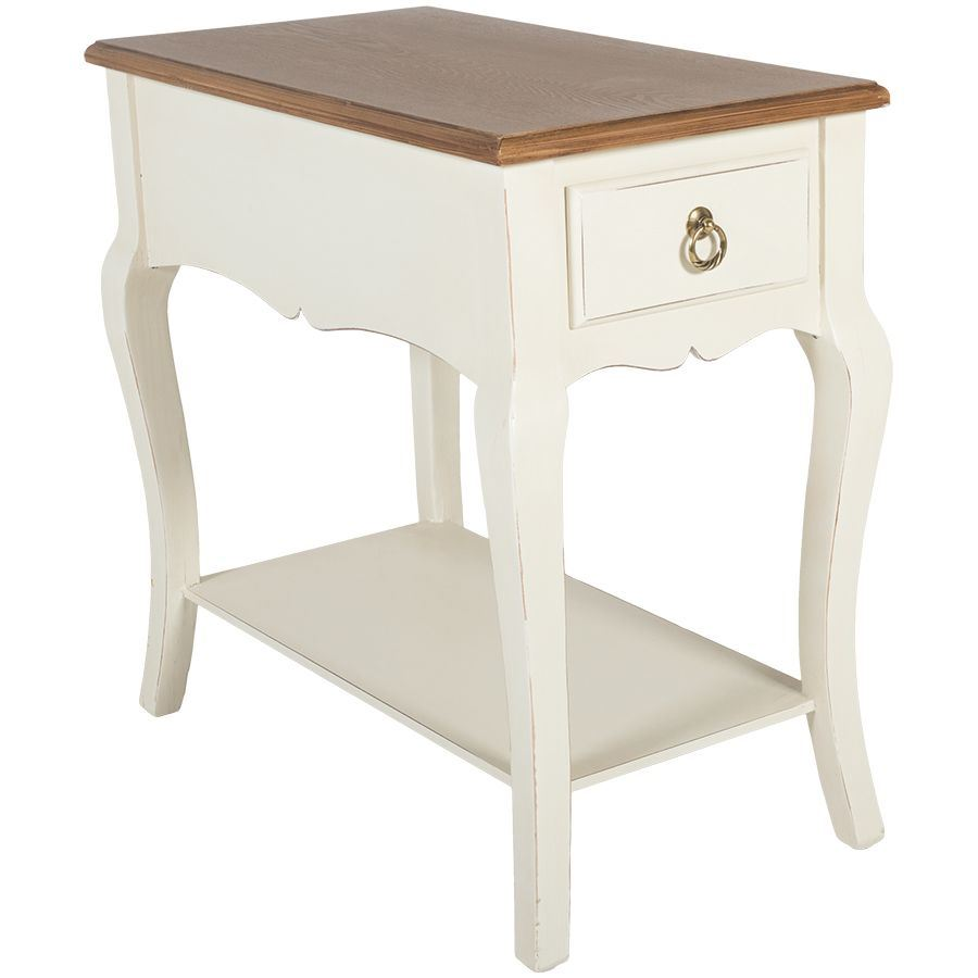 Picture Of Antique White Side Table