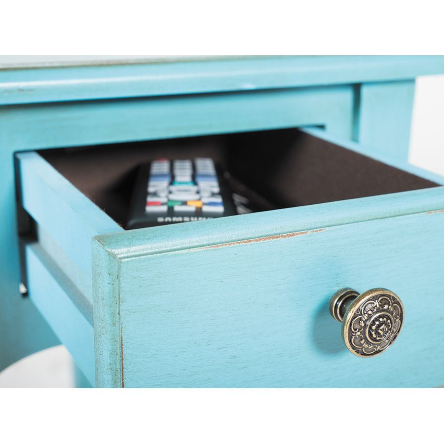 Picture of Teal Side Table