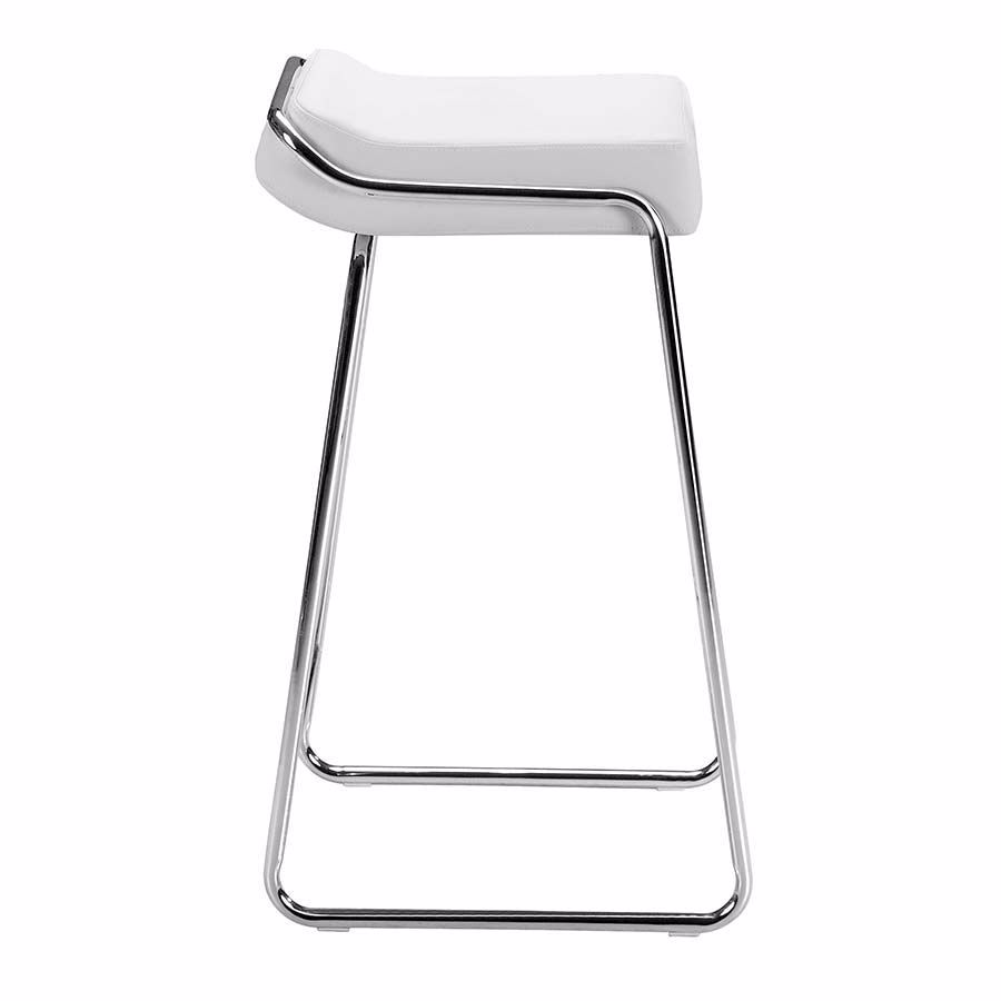 Picture of Wedge Barstool, White - Set of 2 *D