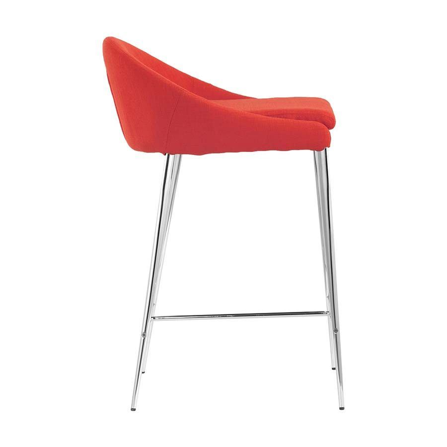 Picture of RJ Counter Chair, Tangerine - Set of 2 *D