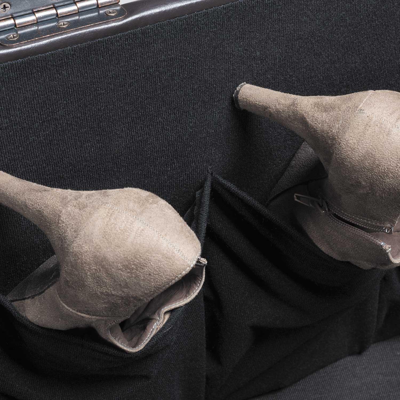 Picture of Brown Durahide Shoe Storage Ottoman