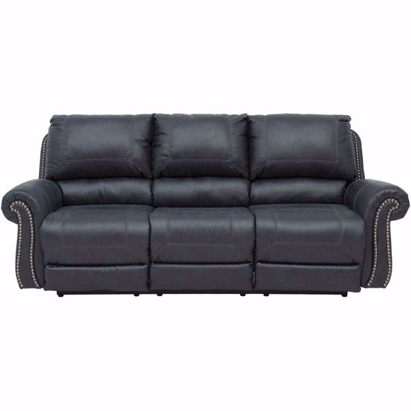 Picture of Milhaven Navy Recline Sofa