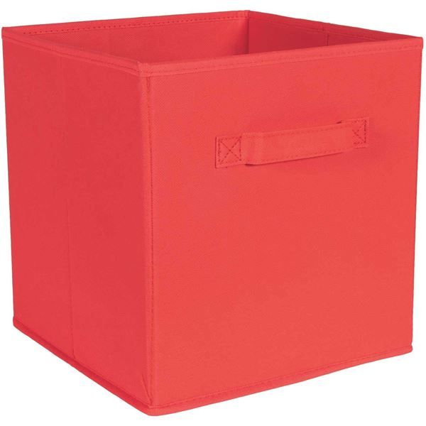 Picture of SystemBuild Red Fabric Bin