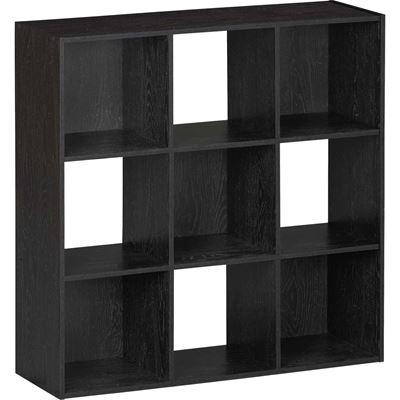 Picture of SystemBuild Black Nine Cube Storage Bookshelf