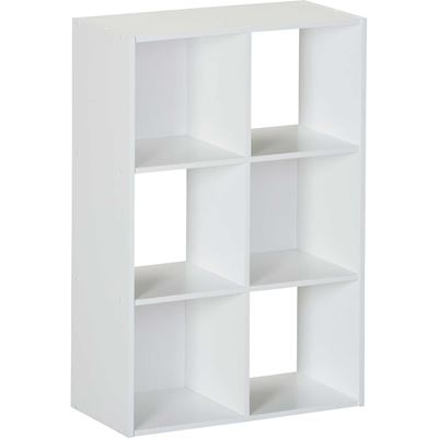 Picture of SystemBuild White Six Cube Storage Bookshelf