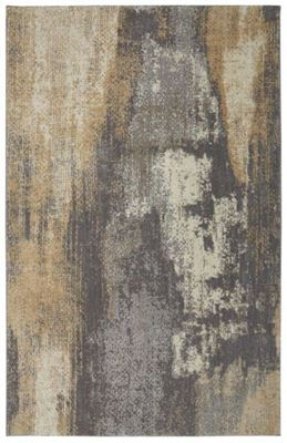 Picture of Berkshire Truro Grey Yellow 8x10 Rug