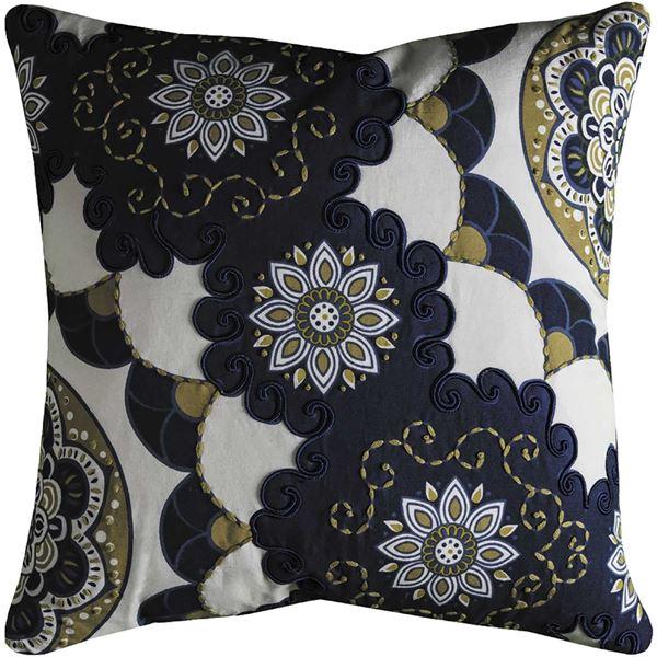 Picture of 20x20 Blue Floral Decorative Pillow *P