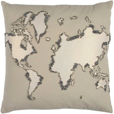 Picture of 20x20 World Map Pillow *P