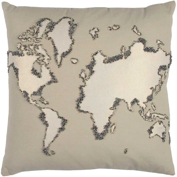 Picture of 20x20 World Map Decorative Pillow *P
