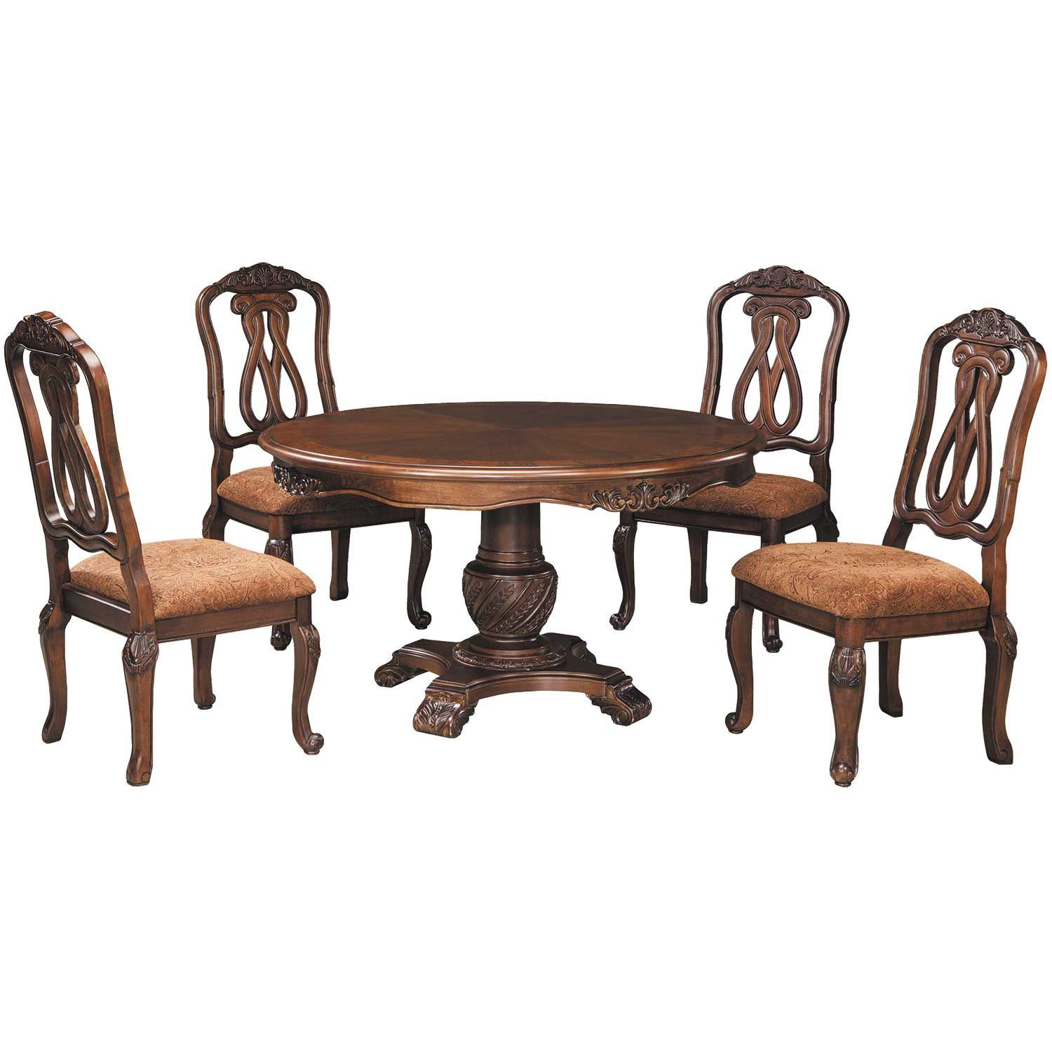 Picture Of North Shore 5 Piece Round Table Set