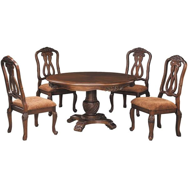North Shore Dining Room Set: North Shore 5 Piece Round Table Set D553-5PC