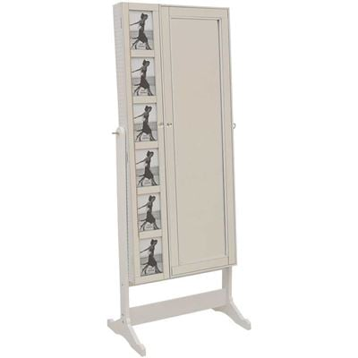 Picture of White Picture Insert Jewelry Storage Mirror