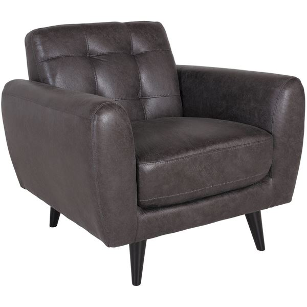 Picture of Digital Tufted Gray Chair