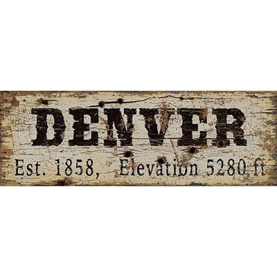 Picture of DENVER VINTAGE SIGN