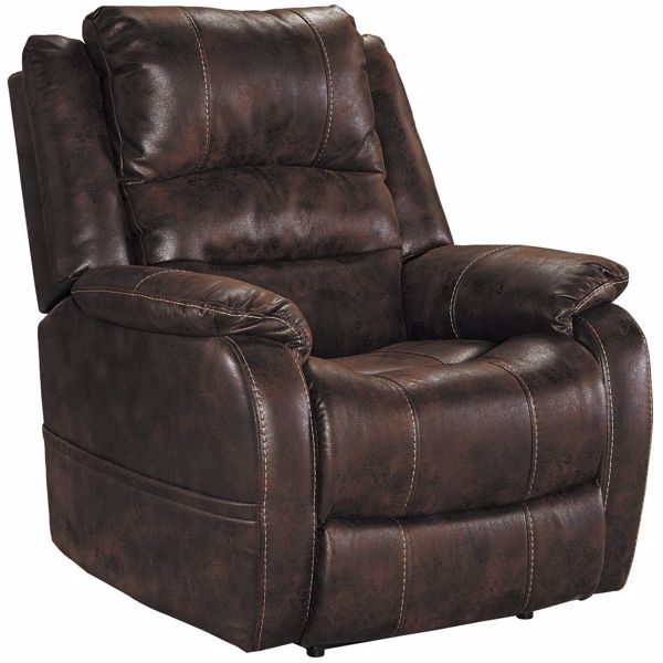 Picture of Barling Walnut Power Recliner with Adjustable Headrest and Power Lumbar Support