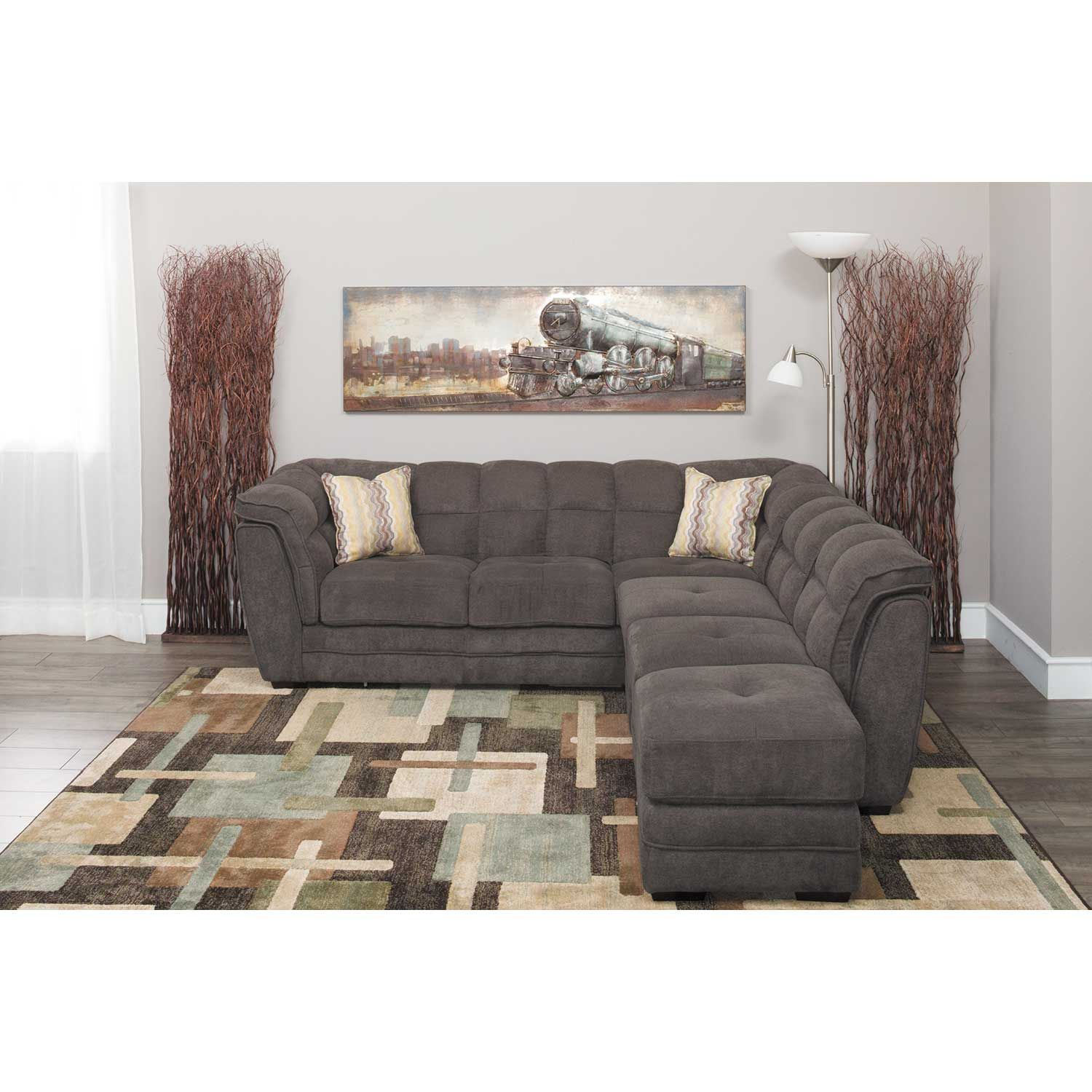 Picture of Clio Gray 4 Piece Pit Sectional