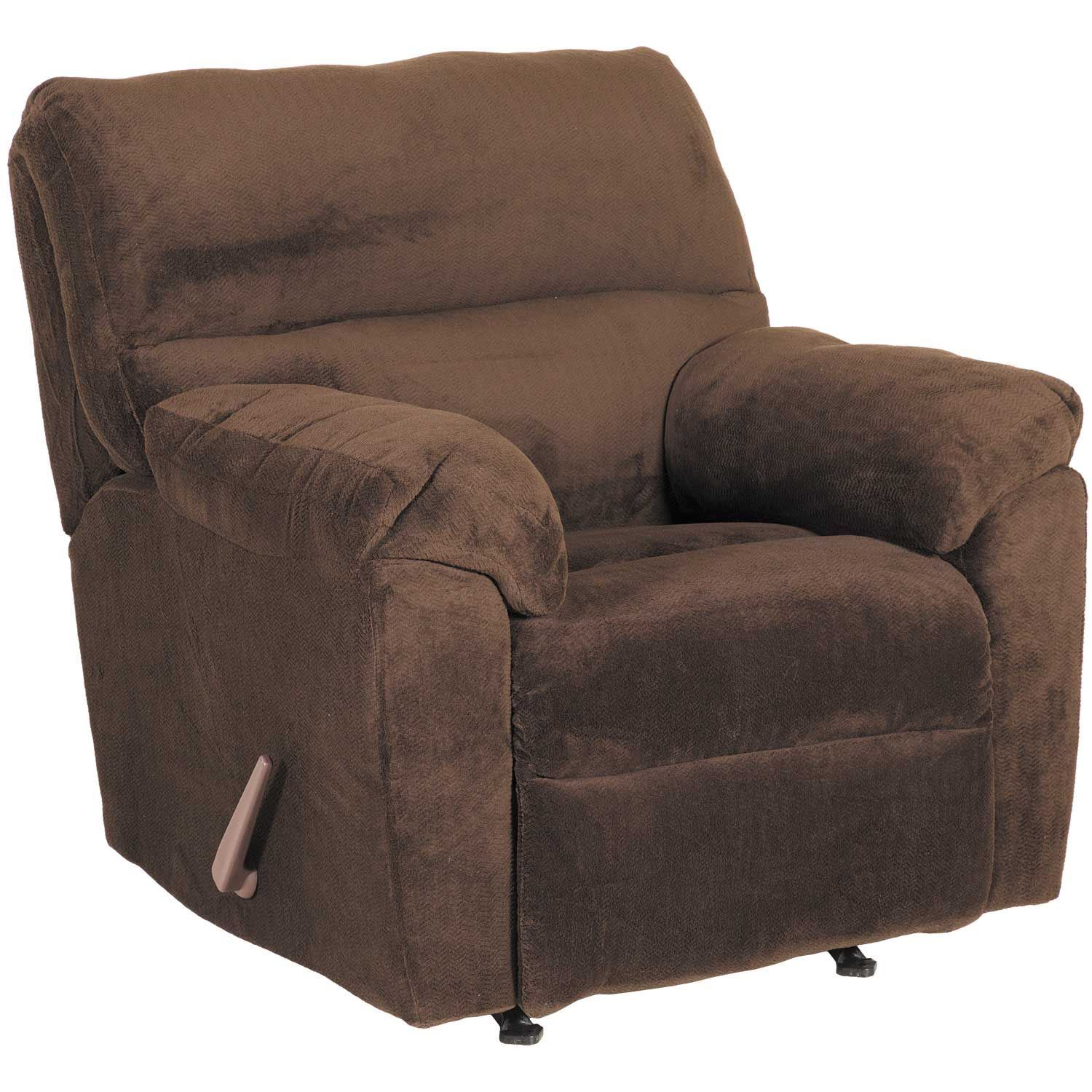 Picture of Chevron Chocolate Rocker Recliner