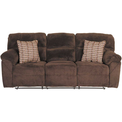 Picture of Chevron Chocolate Reclining Sofa