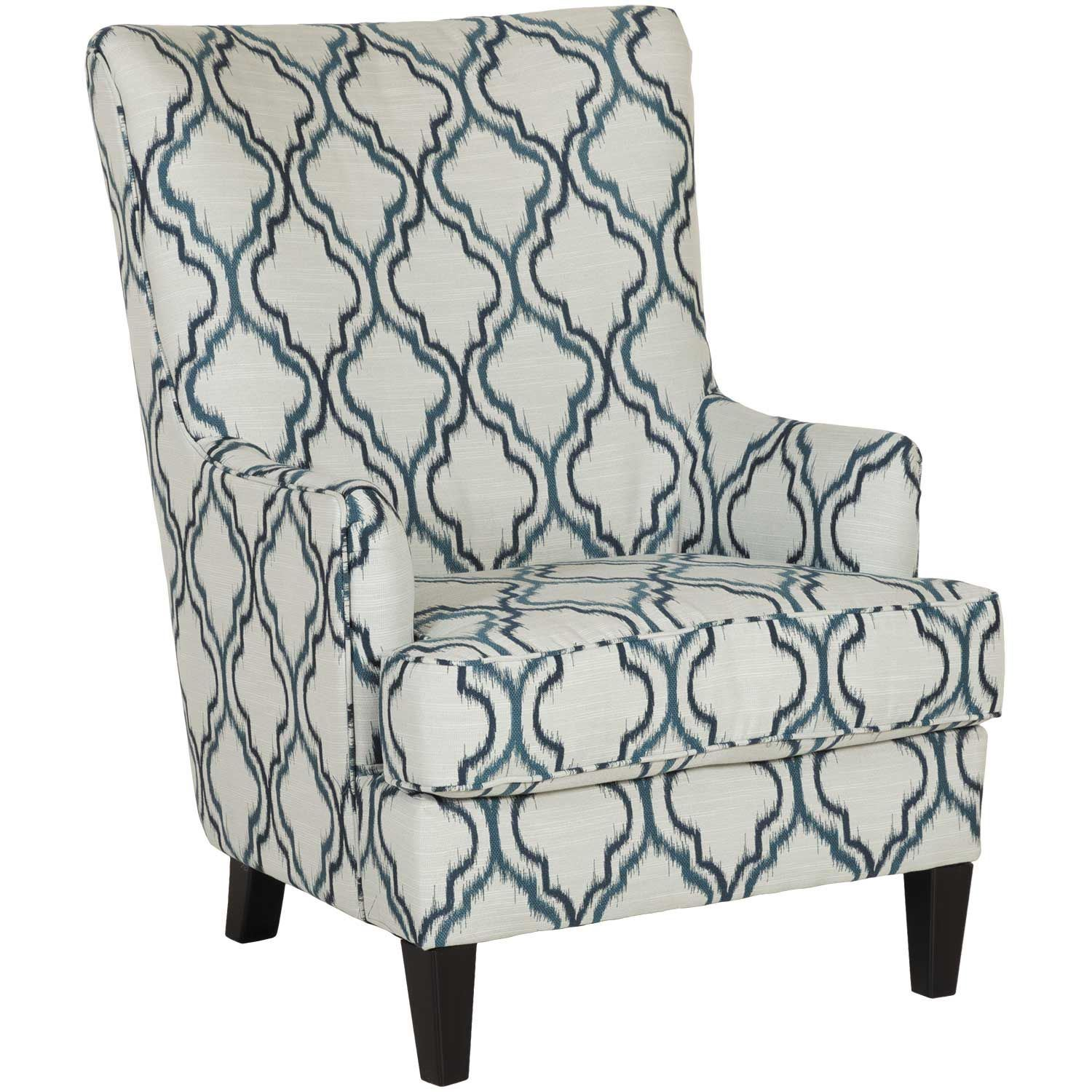 Enjoyable Lavernia Indigo Accent Chair Gmtry Best Dining Table And Chair Ideas Images Gmtryco