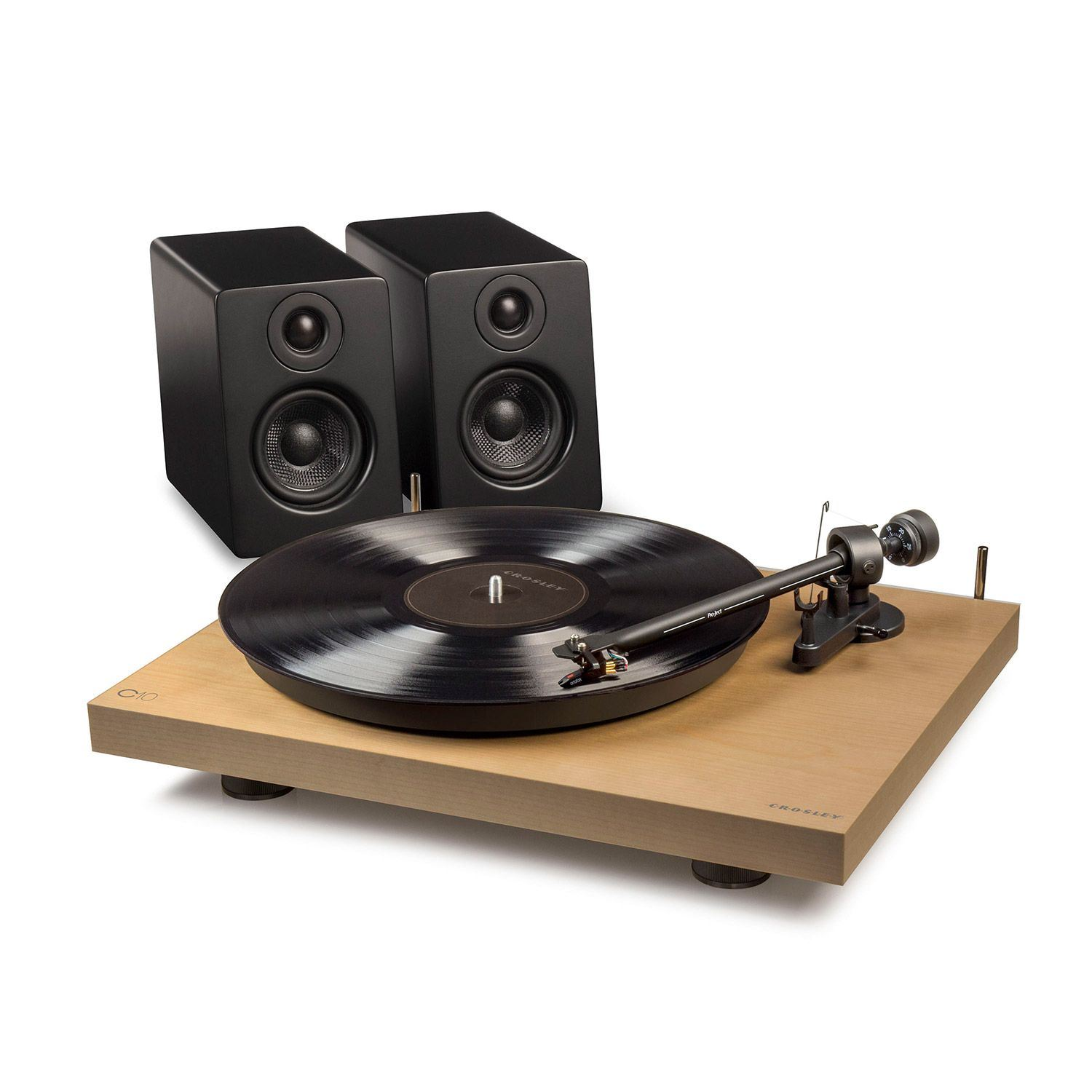 Picture of C10 Two Speed Manual Turntable Deck, Pine *D