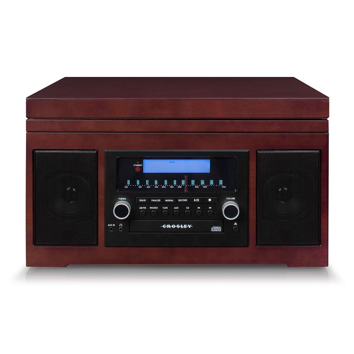 Picture of The Cannon Turntable with Radio, Cherry *D